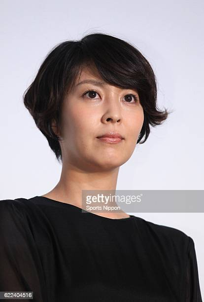 Actress Takako Matsu attends opening day stage greeting of film 'The Little House' on January 25 2014 in Tokyo Japan