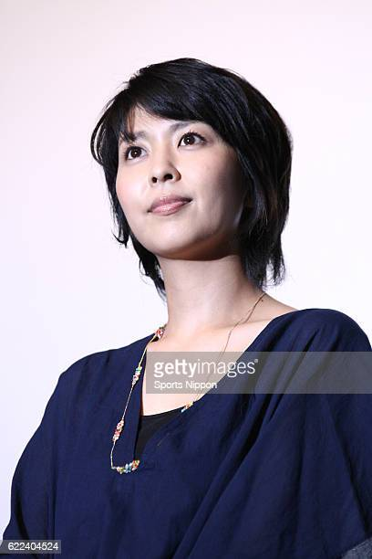 Actress Takako Matsu attends stage greeting of film 'Someday on August 8 2011 in Tokyo Japan