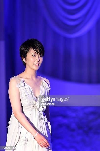 Actress Takako Matsu attends the 34th Japan Academy Awards at Grand Prince Hotel New Takanawa on February 18 2011 in Tokyo Japan