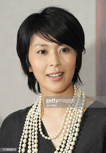 Actress Takako Matsu talks to the media during the BBC's nature documentary film 'One Life' press conference at Mediarte Studio on May 28 2011 in...