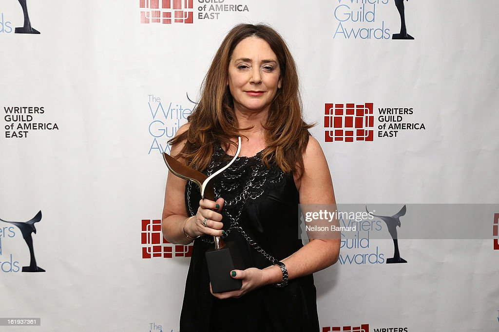 Actress Talia Balsam poses backstage at the 65th annual Writers Guild East Coast Awards at B.B. King Blues Club & Grill on February 17, 2013 in New York City.