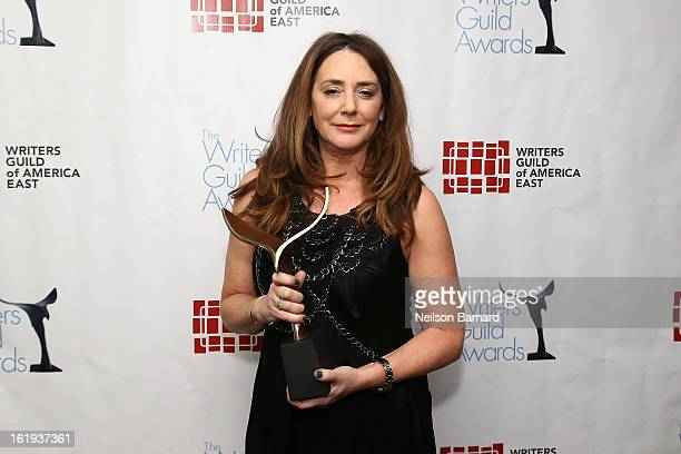 Actress Talia Balsam poses backstage at the 65th annual Writers Guild East Coast Awards at BB King Blues Club Grill on February 17 2013 in New York...