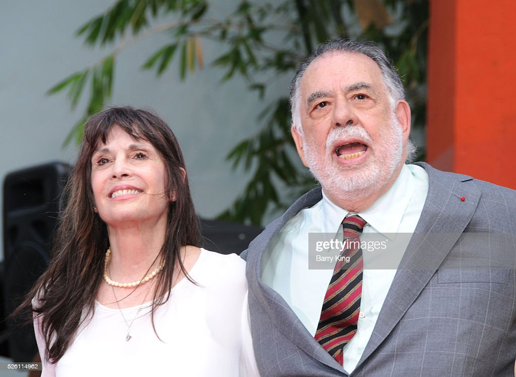 Actress <a gi-track='captionPersonalityLinkClicked' href=/galleries/search?phrase=Talia+Shire&family=editorial&specificpeople=769157 ng-click='$event.stopPropagation()'>Talia Shire</a> and director <a gi-track='captionPersonalityLinkClicked' href=/galleries/search?phrase=Francis+Ford+Coppola&family=editorial&specificpeople=204241 ng-click='$event.stopPropagation()'>Francis Ford Coppola</a> attend <a gi-track='captionPersonalityLinkClicked' href=/galleries/search?phrase=Francis+Ford+Coppola&family=editorial&specificpeople=204241 ng-click='$event.stopPropagation()'>Francis Ford Coppola</a> Hand and Footprint Ceremony at TCL Chinese Theatre IMAX on April 29, 2016 in Hollywood, California.