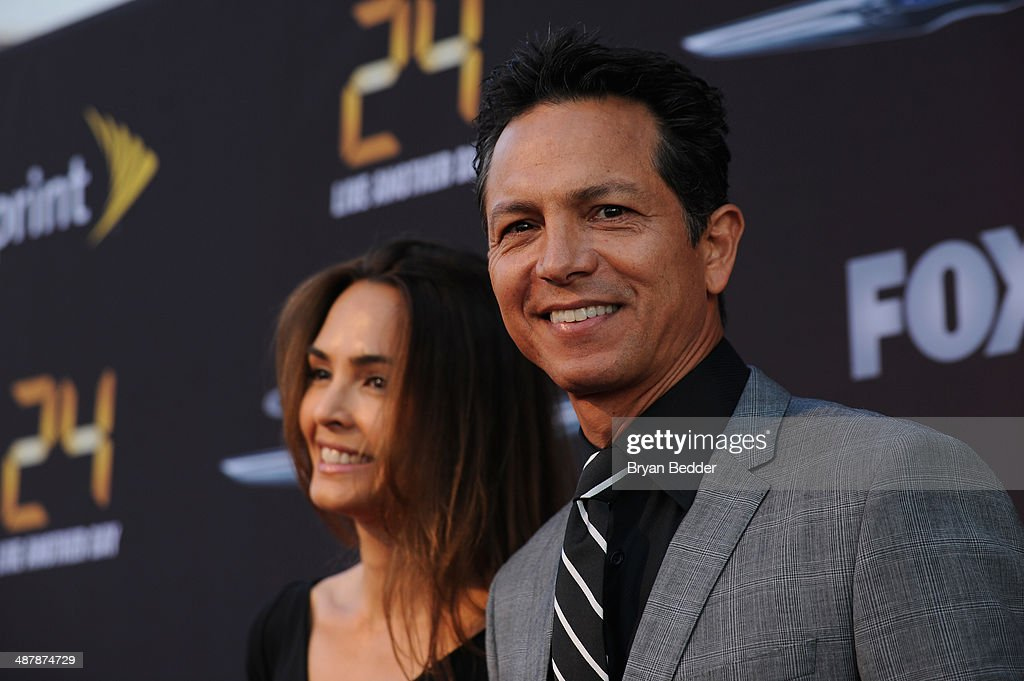 Actress Talisa Soto and Actor <a gi-track='captionPersonalityLinkClicked' href=/galleries/search?phrase=Benjamin+Bratt&family=editorial&specificpeople=203040 ng-click='$event.stopPropagation()'>Benjamin Bratt</a> attend 24: Live Another Day World Premiere Event for Fox on Intrepid Sea, Air & Space Museum on May 2, 2014 in New York City.