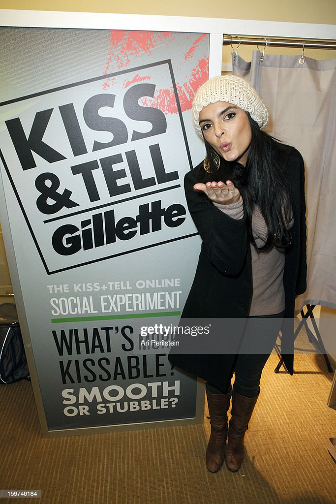 Actress Talita Maia attends Gillette Ask Couples at Sundance to 'Kiss & Tell' if They Prefer Stubble or Smooth Shaven - Day 2 on January 19, 2013 in Park City, Utah.
