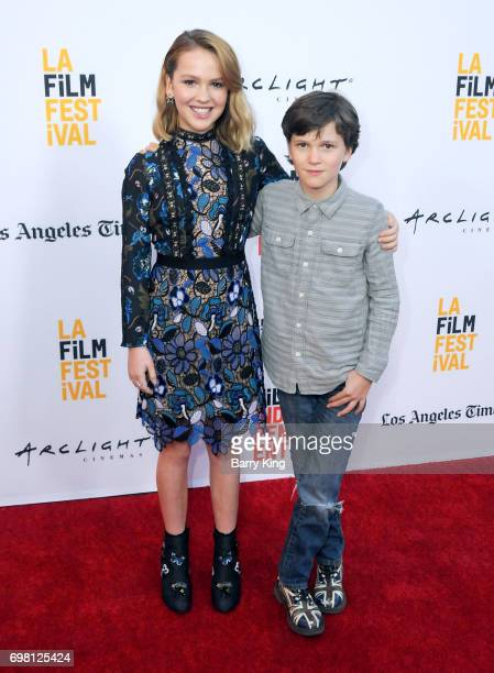 Actress Talitha Bateman and brother actor Gabriel Bateman attend the 2017 Los Angeles Film Festival Premiere of Warner Brothers Pictures' 'Annabelle...