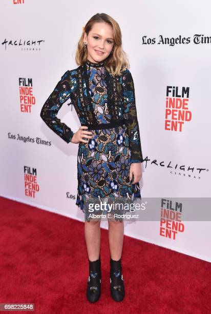 Actress Talitha Bateman attends the premiere of Warner Bros Pictures' 'Annabelle Creation during the 2017 Los Angeles Film Festival at The Theatre at...