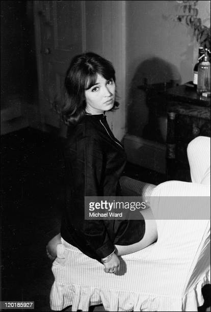 Actress Talitha Pol sitting on a chair 1964 Pol later married John Paul Getty Jr