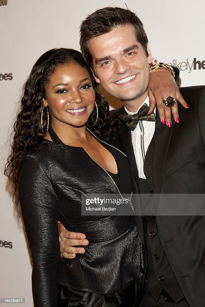 Actress <a gi-track='captionPersonalityLinkClicked' href=/galleries/search?phrase=Tamala+Jones&family=editorial&specificpeople=1545292 ng-click='$event.stopPropagation()'>Tamala Jones</a> and Ben Decker attend 'Love Is Heroic' - The Unlikely Heroes Annual Spring Benefit at W Hollywood on March 21, 2013 in Hollywood, California.