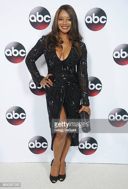 Actress Tamala Jones arrives at the 2016 Winter TCA Tour Disney/ABC at Langham Hotel on January 9 2016 in Pasadena California