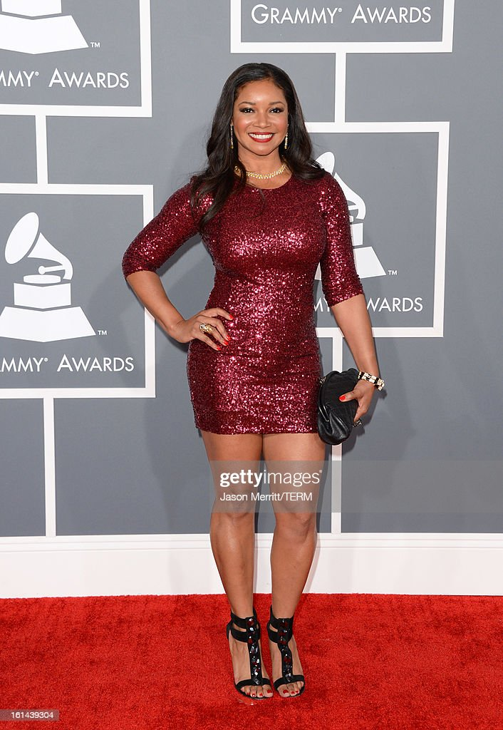 Actress Tamala Jones arrives at the 55th Annual GRAMMY Awards at Staples Center on February 10, 2013 in Los Angeles, California.