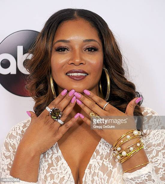 Actress Tamala Jones arrives at the Disney ABC Television Group's 2015 TCA Summer Press Tour on August 4 2015 in Beverly Hills California