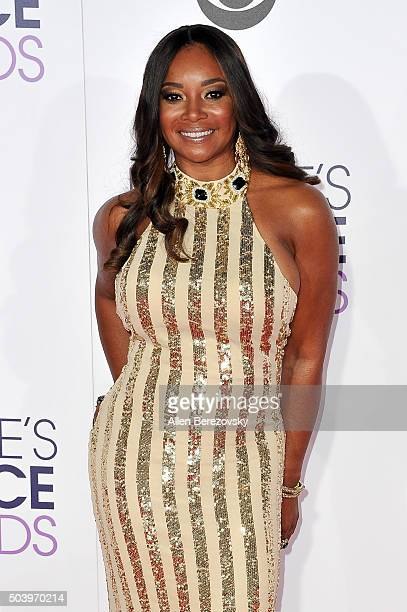 Actress Tamala Jones arrives at the People's Choice Awards 2016 at Microsoft Theater on January 6 2016 in Los Angeles California