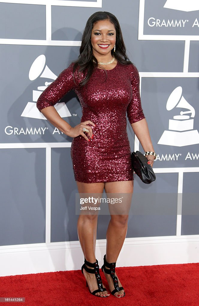 Actress Tamala Jones attends the 55th Annual GRAMMY Awards at STAPLES Center on February 10, 2013 in Los Angeles, California.
