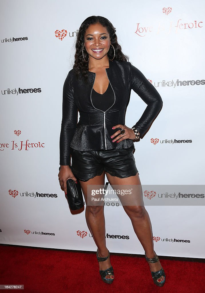 Actress Tamala Jones attends the 'Love Is Heroic' - The Unlikely Heroes annual spring benefit at the W Hollywood on March 21, 2013 in Hollywood, California.