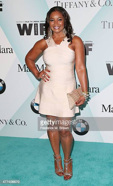 Actress Tamala Jones attends the Women in Film 2015 Crystal Lucy Awards at the Hyatt Regency Century Plaza Hotel on June 16 2015 in Los Angeles...