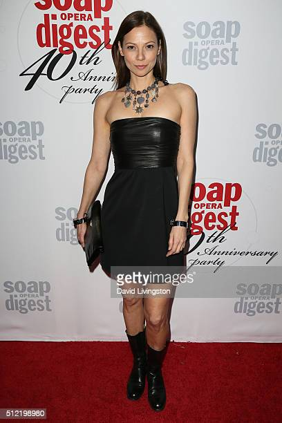 Actress Tamara Braun arrives at the 40th Anniversary of the Soap Opera Digest at The Argyle on February 24 2016 in Hollywood California