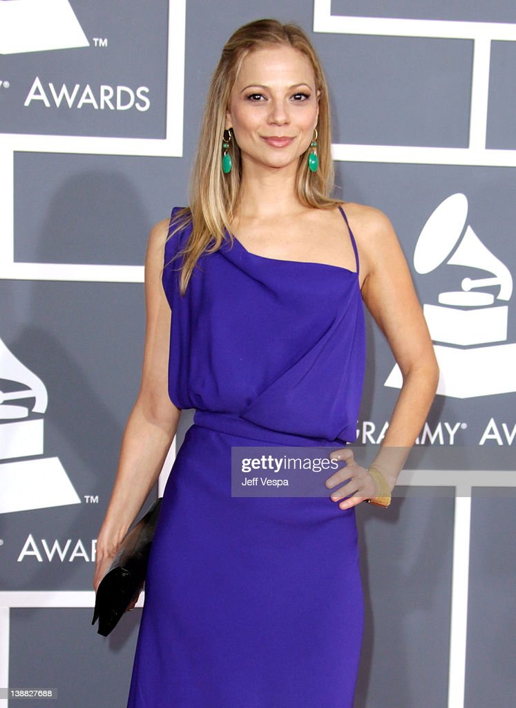 Actress Tamara Braun arrives at The 54th Annual GRAMMY Awards at Staples Center on February 12, 2012 in Los Angeles, California.