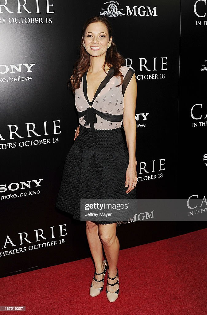 Actress Tamara Braun arrives at the Los Angeles premiere of 'Carrie' at ArcLight Hollywood on October 7, 2013 in Hollywood, California.