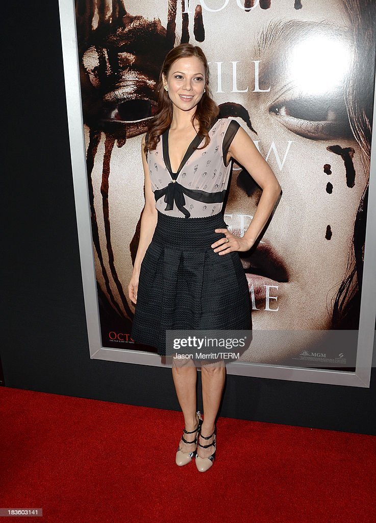 Actress Tamara Braun arrives at the premiere of Metro-Goldwyn-Mayer Pictures & Screen Gems' 'Carrie' at ArcLight Cinemas on October 7, 2013 in Hollywood, California.