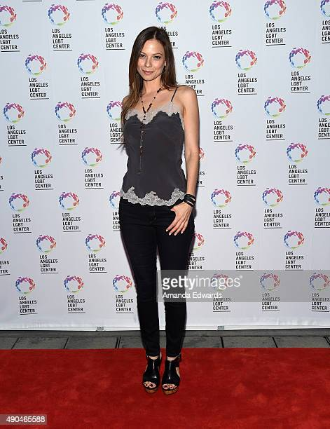 Actress Tamara Braun arrives at the premiere party for Fuse's 'Transcendent' at The Village at Ed Gould Plaza on September 28 2015 in Los Angeles...