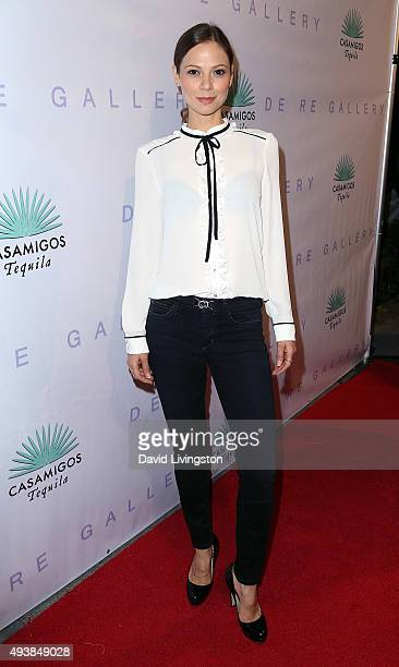 Actress Tamara Braun attends Brian Bowen Smith's 'Metallic Life' exhibition opening at the De Re Gallery on October 22 2015 in Los Angeles California