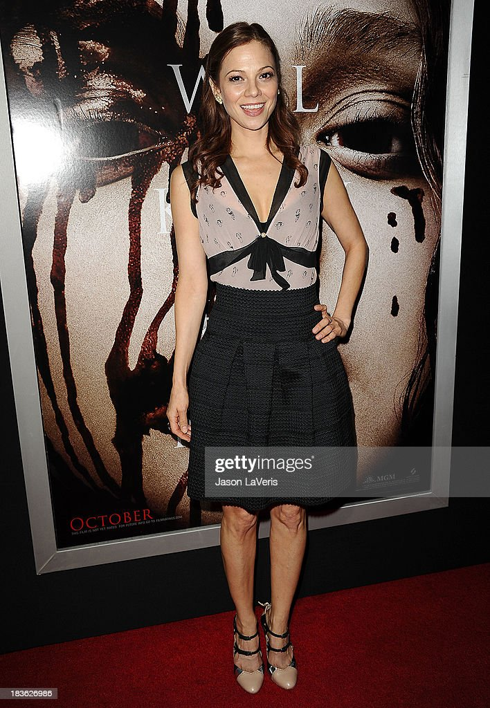Actress Tamara Braun attends the premiere of 'Carrie' at ArcLight Hollywood on October 7, 2013 in Hollywood, California.