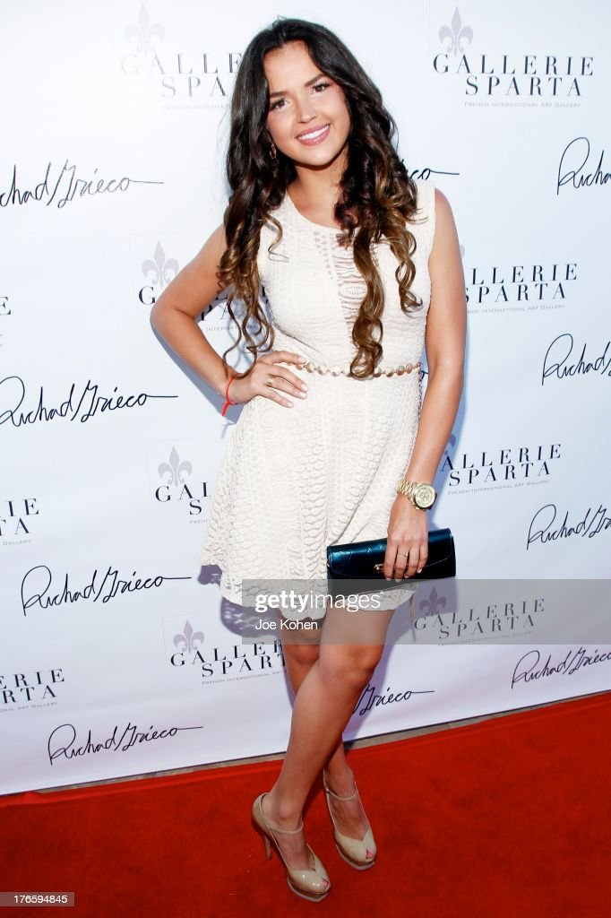 Actress Tamara Duarte attends Richard Grieco's opening night gala for his one-man art exhibit 'Sanctum Of A Dreamer!' at Gallerie Sparta on August 15, 2013 in West Hollywood, California.