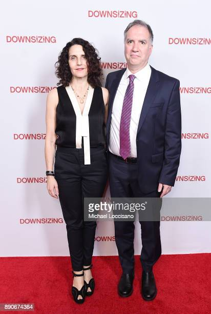 Actress Tamara Jenkins and screenwriter Jim Taylor attend the New York screening of 'Downsizing' at AMC Lincoln Square Theater on December 11 2017 in...
