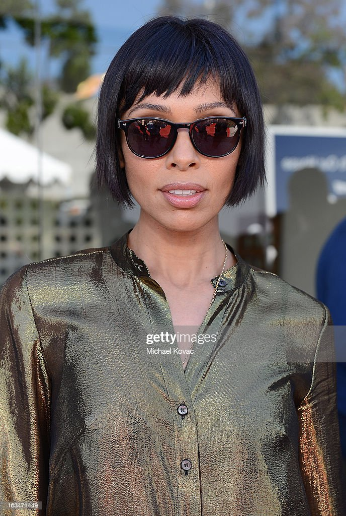 Actress Tamara Taylor wearing John Varvatos Eyewear at the 10th Annual Stuart House Benefit presented by Chrysler at John Varvatos Los Angeles on March 10, 2013 in Los Angeles, California.