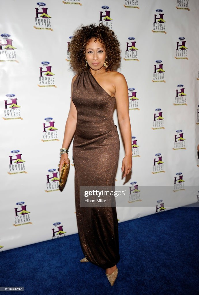 Actress Tamara Tunie arrives at the ninth annual Ford Hoodie Awards at the Mandalay Bay Events Center August 13, 2011 in Las Vegas, Nevada.