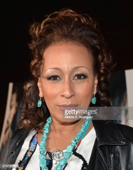 Actress Tamara Tunie attends a screening of Sundance Channel's 'The Red Road' at The Bronson Caves at Griffith Park on February 24 2014 in Los...