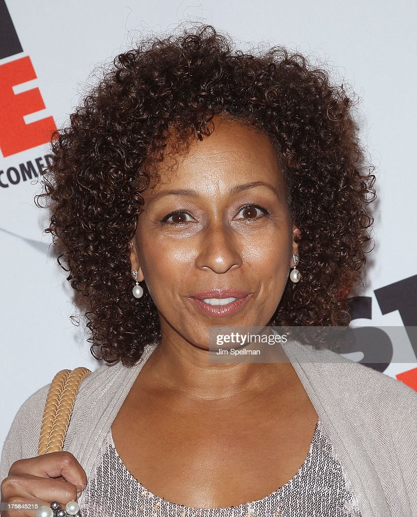 Actress <a gi-track='captionPersonalityLinkClicked' href=/galleries/search?phrase=Tamara+Tunie&family=editorial&specificpeople=213326 ng-click='$event.stopPropagation()'>Tamara Tunie</a> attends 'First Date' Broadway Opening Night at Longacre Theatre on August 8, 2013 in New York City.