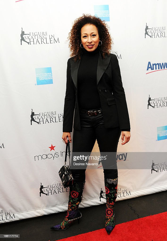 Actress <a gi-track='captionPersonalityLinkClicked' href=/galleries/search?phrase=Tamara+Tunie&family=editorial&specificpeople=213326 ng-click='$event.stopPropagation()'>Tamara Tunie</a> attends the 2013 Skating With The Stars Benefit Gala at Trump Rink at Central Park on April 8, 2013 in New York City.