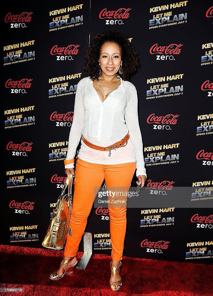Actress Tamara Tunie attends the 'Kevin Hart:Let Me Explain' New York Premiere at Regal Cinemas Union Square on June 19, 2013 in New York City.