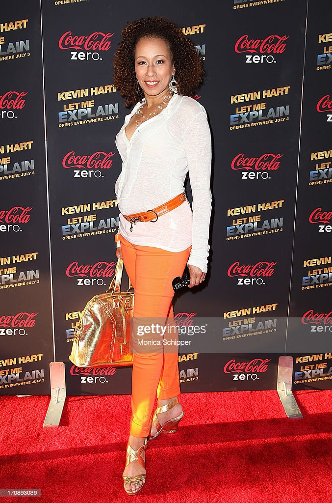 Actress Tamara Tunie attends the 'Kevin Hart:Let Me Explain' premiere at Regal Cinemas Union Square on June 19, 2013 in New York City.