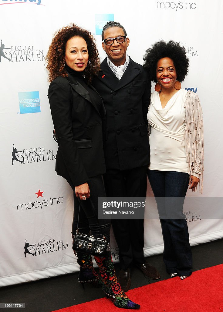 Actress <a gi-track='captionPersonalityLinkClicked' href=/galleries/search?phrase=Tamara+Tunie&family=editorial&specificpeople=213326 ng-click='$event.stopPropagation()'>Tamara Tunie</a>, fashion designer/honoree B Michael and <a gi-track='captionPersonalityLinkClicked' href=/galleries/search?phrase=Rhonda+Ross&family=editorial&specificpeople=1537998 ng-click='$event.stopPropagation()'>Rhonda Ross</a> attend the 2013 Skating With The Stars Benefit Gala at Trump Rink at Central Park on April 8, 2013 in New York City.