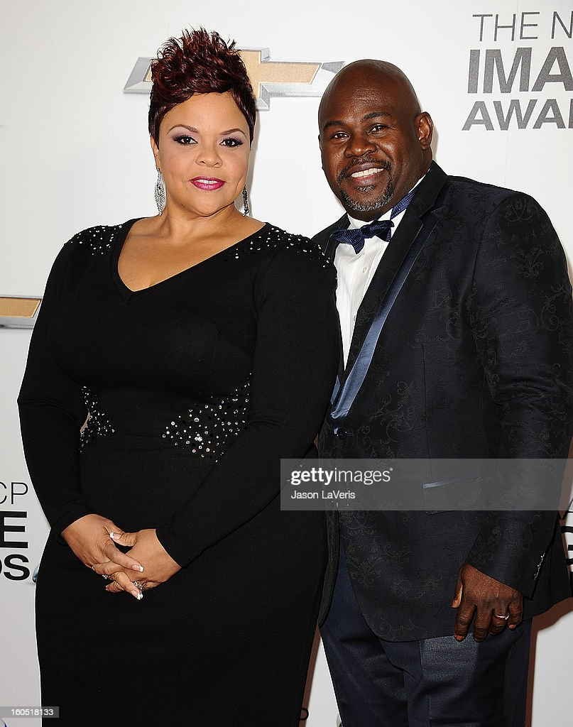 Actress Tamela Mann and actor David Mann attend the 44th NAACP Image Awards at The Shrine Auditorium on February 1, 2013 in Los Angeles, California.