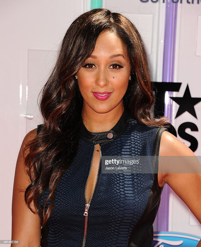 Actress Tamera Mowry attends the 2014 BET Awards at Nokia Plaza LA LIVE on June 29 2014 in Los Angeles California