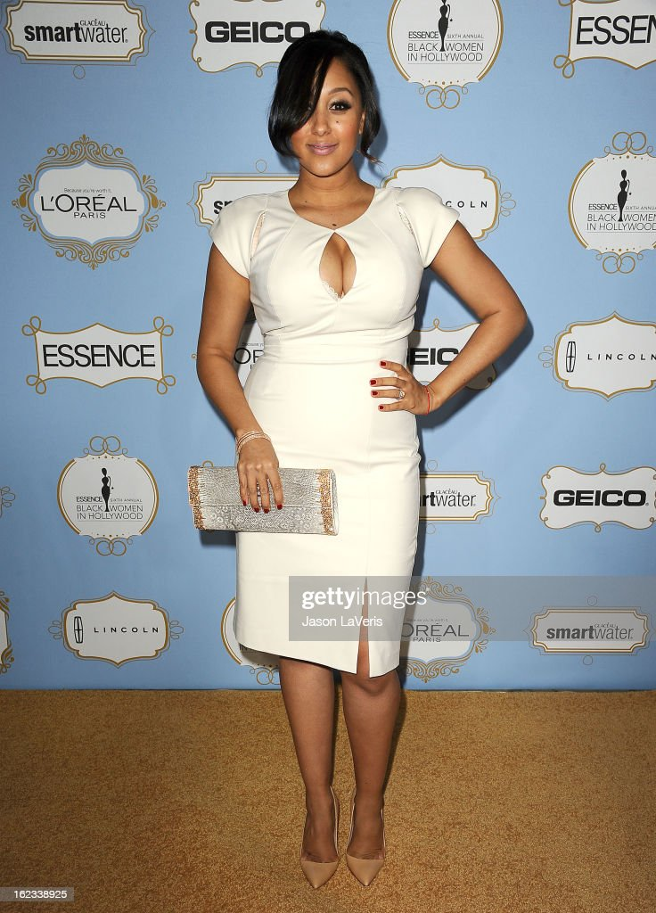 Actress Tamera Mowry attends the 6th annual ESSENCE Black Women In Hollywood awards luncheon at Beverly Hills Hotel on February 21, 2013 in Beverly Hills, California.