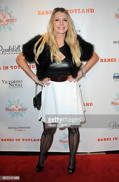 Actress Tamie Sheffield arrives for the 2015 Babes In Toyland And BenchWarmer Charity Toy Drive held at Avalon on December 9 2015 in Hollywood...