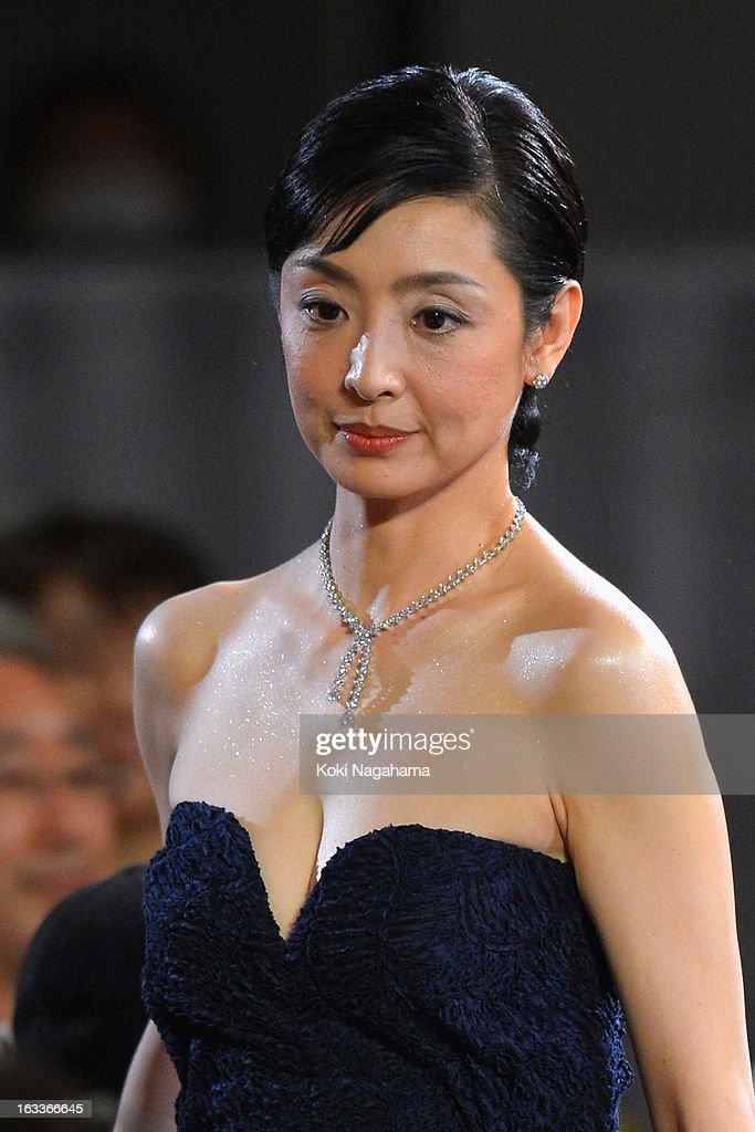 Actress Tamiyo Kusakari attends the 36th Japan Academy Prize Award Ceremony at Grand Prince Hotel Shin Takanawa on March 8, 2013 in Tokyo, Japan.