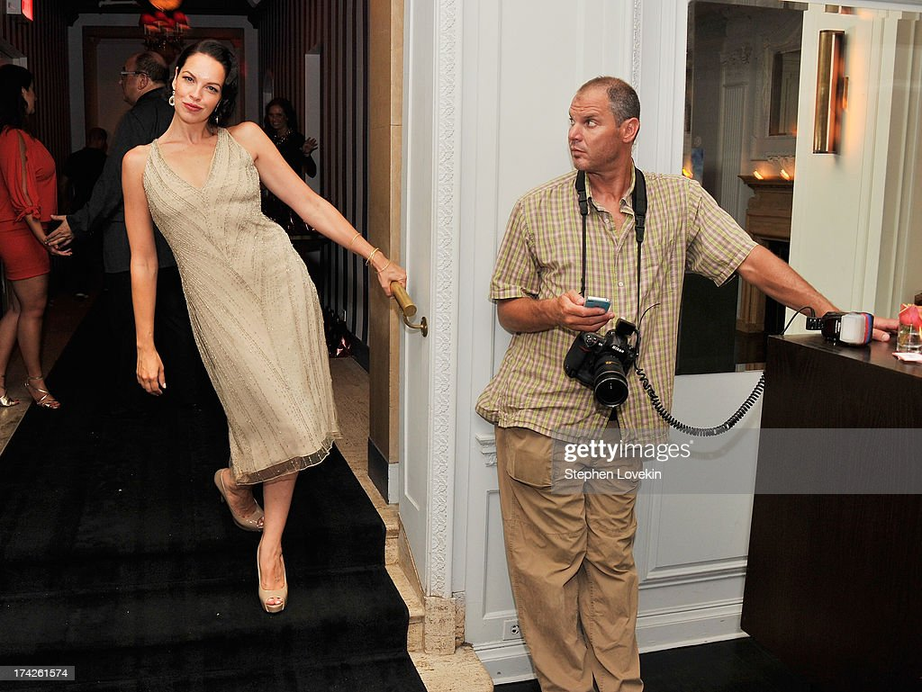 Actress <a gi-track='captionPersonalityLinkClicked' href=/galleries/search?phrase=Tammy+Blanchard&family=editorial&specificpeople=2205106 ng-click='$event.stopPropagation()'>Tammy Blanchard</a> and photographer Steve Eichner attend the after party for the New York Premiere of 'Blue Jasmine' at Harlow on July 22, 2013 in New York City.