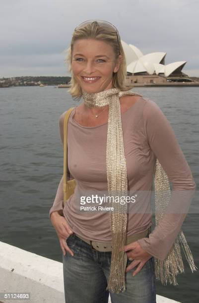 Actress Tammy MacIntosh one of the cast of the Australian TV medical drama 'All Saints' attending lunch at Wildfire restaurant in the Overseas...