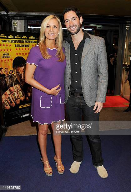 Actress Tamzin Outhwaite and husband Tom Ellis attend the premiere of 'Wild Bill' at Cineworld Haymarket on March 20 2012 in London England