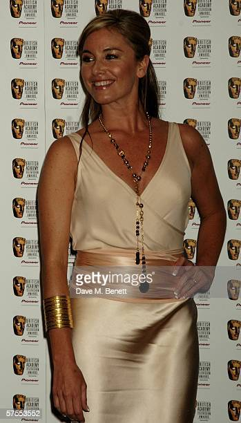 Actress Tamzin Outhwaite poses in the Awards Room at the Pioneer British Academy Television Awards 2006 at the Grosvenor House Hotel on May 7 2006 in...