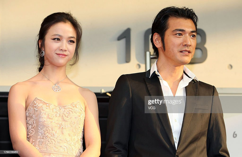 Actress Tang Wei and actor Takeshi Kanashiro attend 'Wu Xia' premiere at Haneulyeon Theatre during the 16th Busan International Film Festival (BIFF) on October 9, 2011 in Busan, South Korea.