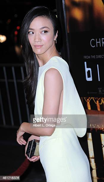 Actress Tang Wei arrives for the Premiere Of Universal Pictures And Legendary Pictures' 'Blackhat' held at TCL Chinese Theatre IMAX on January 8 2015...