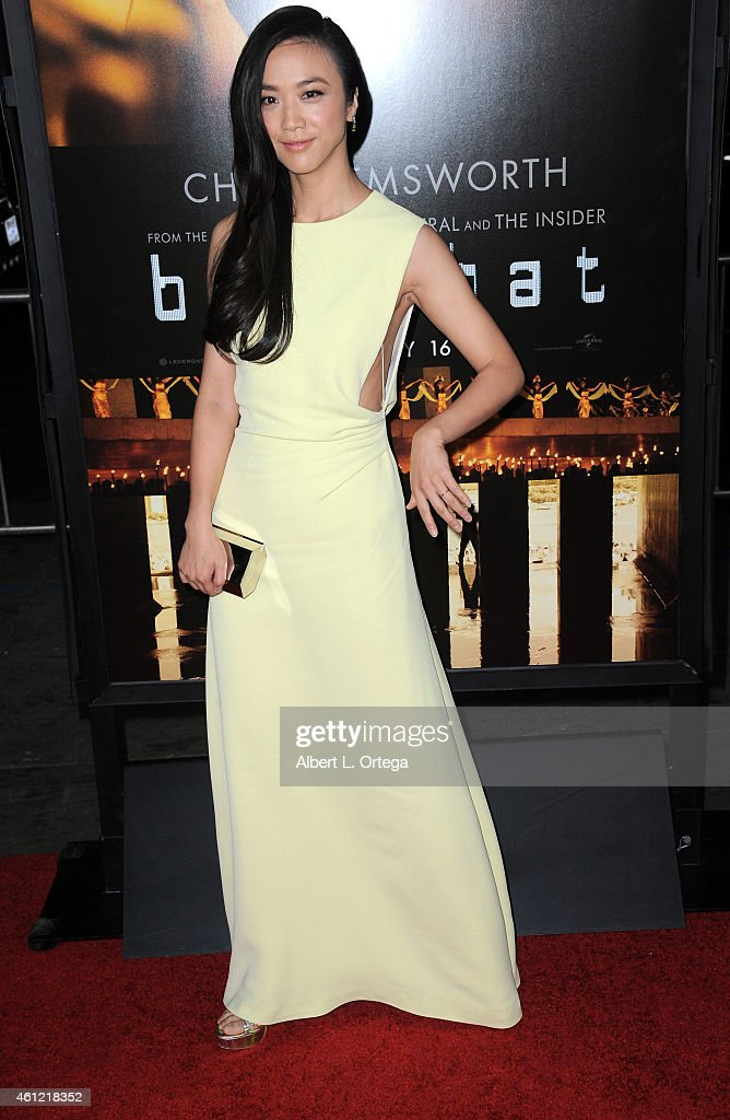 Actress <a gi-track='captionPersonalityLinkClicked' href=/galleries/search?phrase=Tang+Wei&family=editorial&specificpeople=4329520 ng-click='$event.stopPropagation()'>Tang Wei</a> arrives for the Premiere Of Universal Pictures And Legendary Pictures' 'Blackhat' held at TCL Chinese Theatre IMAX on January 8, 2015 in Hollywood, California.