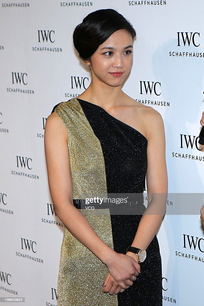 Actress <a gi-track='captionPersonalityLinkClicked' href=/galleries/search?phrase=Tang+Wei&family=editorial&specificpeople=4329520 ng-click='$event.stopPropagation()'>Tang Wei</a> attends IWC flagship store opening ceremony at Parkview Green Shopping Mall on November 22, 2012 in Beijing, China.